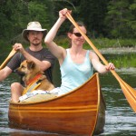 Us in a canoe